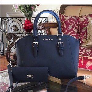 Michael Kors large Ciara leather satchel&wallet